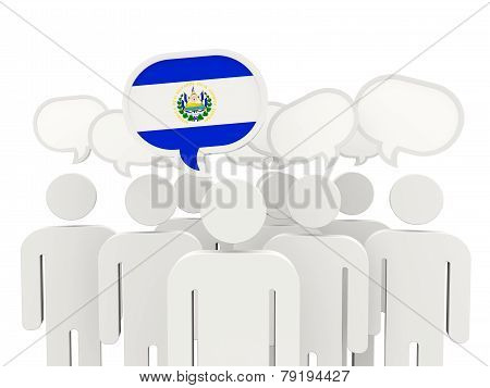 People With Flag Of El Salvador