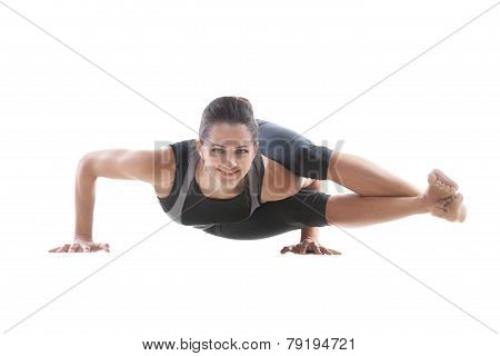 Girl Doing Handstand Push-ups