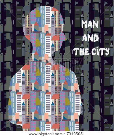Architectural concept - man and the city