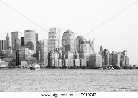 Downtown Manhattan en blanco y negro