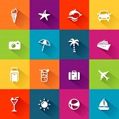 pic of dauphin  - Summer and travel icons in modern - JPG