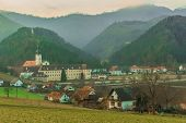 stock photo of reining  - The Rein Abbey is a Cistercian monastery in the municipality Rein in Styria - JPG