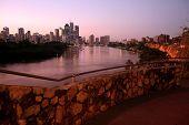 Brisbane City from Cliffs poster