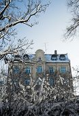 pic of munich residence  - A Traditional Building In Munich Germany In The Snow Near Christmas - JPG