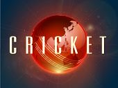 pic of cricket ball  - Shiny red Cricket ball with map on stars light background - JPG