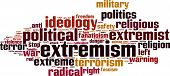 stock photo of zealots  - Extremism word cloud concept isolated on white - JPG