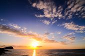 picture of canary  - Sun Setting on the Atlantic Ocean in Tenerife Canary Island Spain - JPG