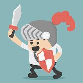picture of battle  - Businesses battle Illustration Cartoons concepts  - JPG