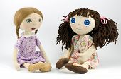 stock photo of rag-doll  - Two rag - JPG