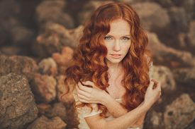 pic of freckle face  - Beautiful red - JPG