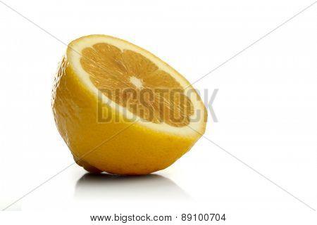 Studio shot of lemon on white backgrond