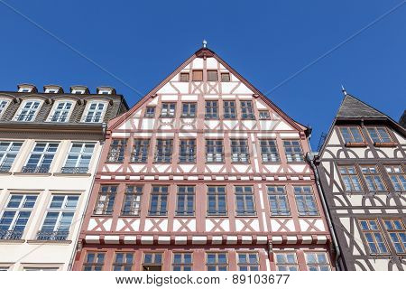 Half-timbered Buildings In Frankfurt