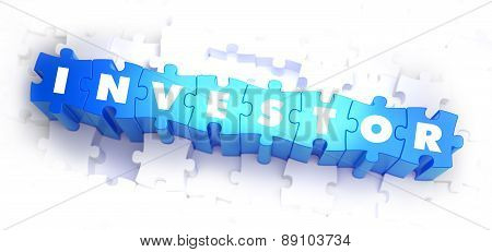 Investor - White Word on Blue Puzzles.