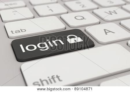Keyboard - Login - Black