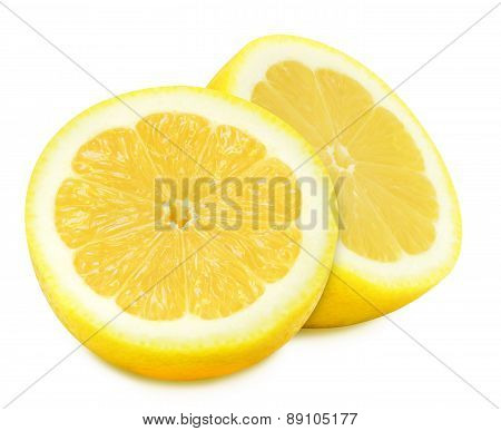 Juicy yellow lemons on a white background isolated