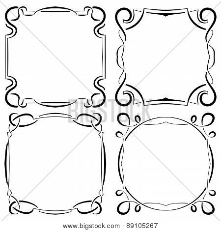 Vector Set Of Four Beautiful Framework