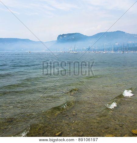 Fog On The Garda Lake