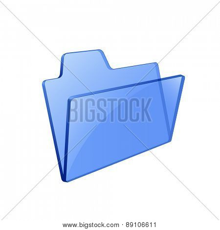 Glass glossy folder. Pseudo transparency. Vector illustration