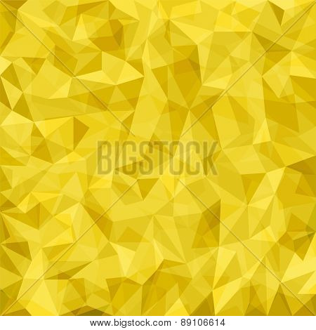 Abstract yellow mosaic pattern. Vector abstract background