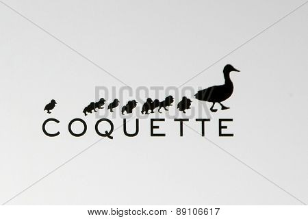 LOS ANGELES - FEB 20:  Coquette Productions emblem, Coquette Productions, a production company created by David Arquette, Courteney Cox -
