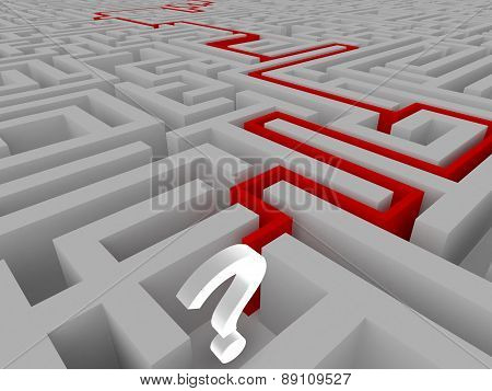 Resolution of a maze