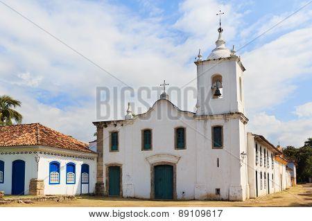 Curch Igreja De Nossa Senhora Das Dores In Paraty, Brazil