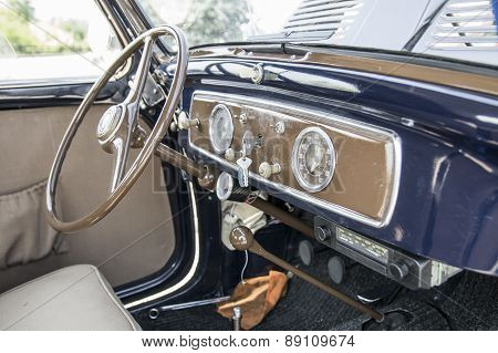 Interior Of Italian Vintage Car