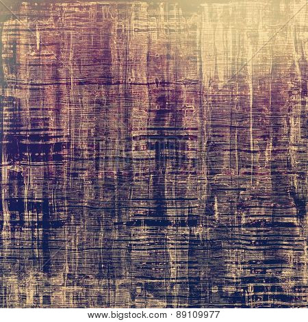 Antique vintage textured background. With different color patterns: brown; gray; purple (violet); blue