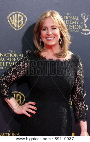 LOS ANGELES - APR 26:  Genie Francis at the 2015 Daytime Emmy Awards at the Warner Brothers Studio Lot on April 26, 2015 in Burbank, CA