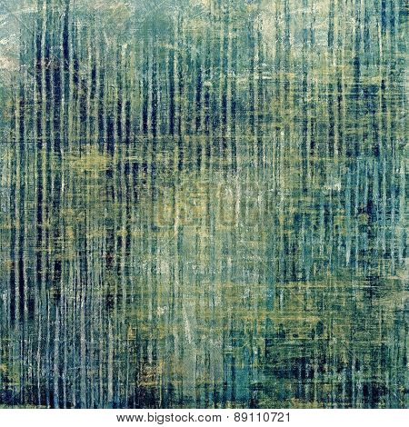 Old texture with delicate abstract pattern as grunge background. With different color patterns: yellow (beige); green; cyan; blue