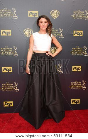 LOS ANGELES - APR 26:  Elizabeth Hendrickson at the 2015 Daytime Emmy Awards at the Warner Brothers Studio Lot on April 26, 2015 in Burbank, CA