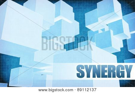 Synergy on Futuristic Abstract for Presentation Slide