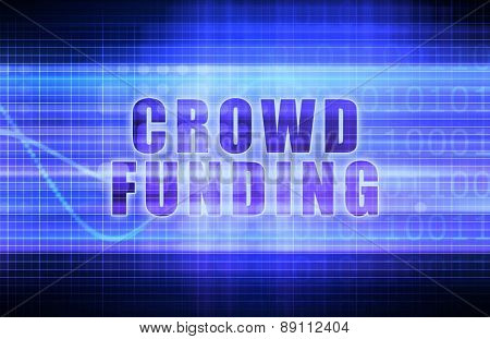Crowdfunding on a Tech Business Chart Art