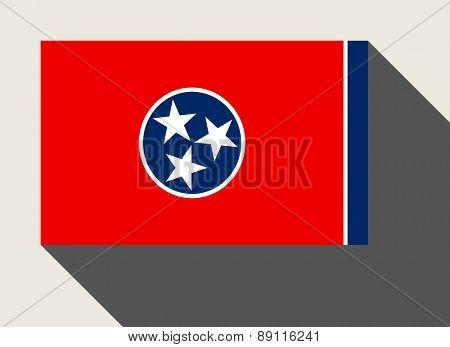 American State of Tennessee flag in flat web design style.