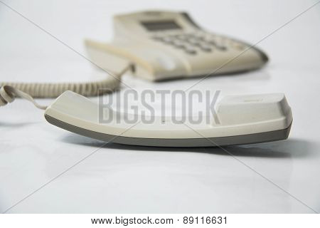 Home  Phone On A White Background.