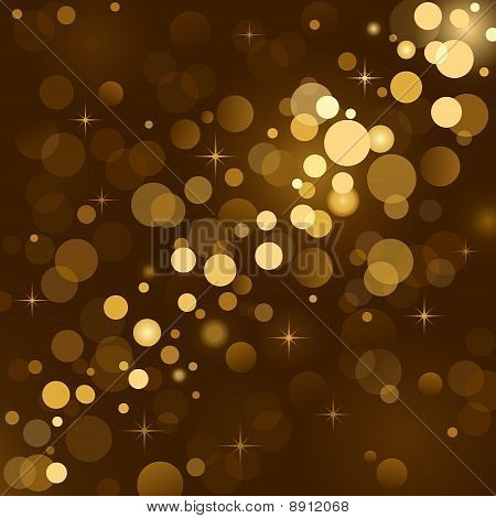 Magic lights, background sparkle, blurred vector lights