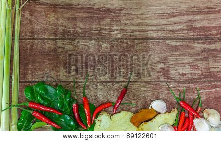 Raw Material Of Spicy Soup