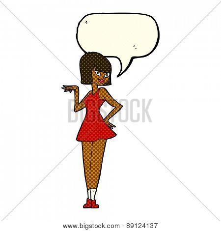 cartoon person with speech balloon
