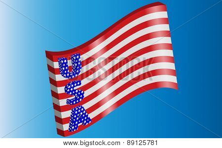 American flag style with letters USA