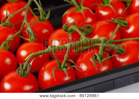 full frame of cherry tomatoes