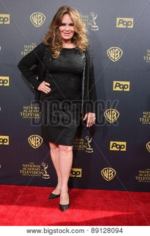 LOS ANGELES - APR 26:  Catherine Bach at the 2015 Daytime Emmy Awards at the Warner Brothers Studio Lot on April 26, 2015 in Burbank, CA