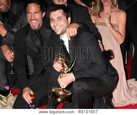 LOS ANGELES - APR 26:  Shawn Christian, Freddie Smith at the 2015 Daytime Emmy Awards at the Warner Brothers Studio Lot on April 26, 2015 in Los Angeles, CA
