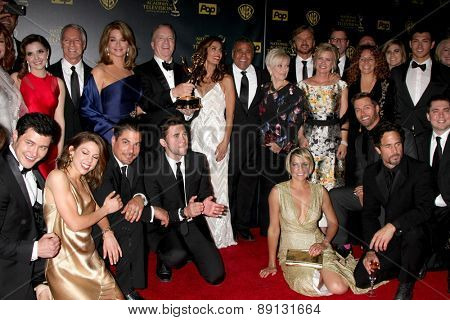 LOS ANGELES - APR 26:  Days of Our Lives Best Drama at the 2015 Daytime Emmy Awards at the Warner Brothers Studio Lot on April 26, 2015 in Los Angeles, CA