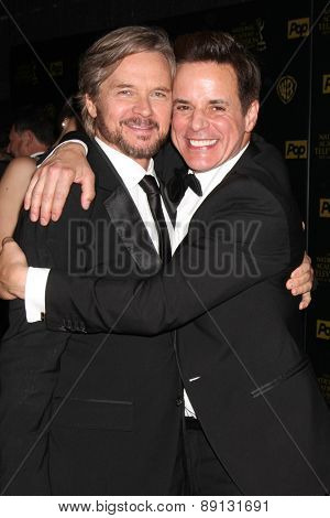 LOS ANGELES - APR 26:  Stephen Nichols, Chrsitian LeBlanc at the 2015 Daytime Emmy Awards at the Warner Brothers Studio Lot on April 26, 2015 in Los Angeles, CA