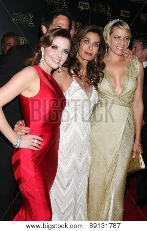 LOS ANGELES - APR 26:  Jen Lilley, Kristian Alfonso, Arianne Zucker at the 2015 Daytime Emmy Awards at the Warner Brothers Studio Lot on April 26, 2015 in Los Angeles, CA