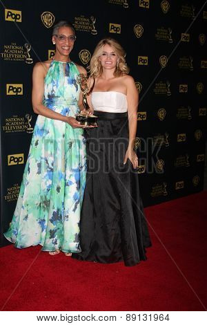 LOS ANGELES - APR 26:  Carla Hall, Daphne Oz at the 2015 Daytime Emmy Awards at the Warner Brothers Studio Lot on April 26, 2015 in Los Angeles, CA
