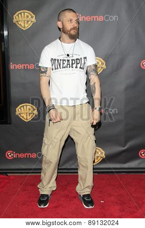LAS VEGAS - APR 21:  Tom Hardy at the Warner Brothers 2015 Presentation at Cinemacon at the Caesars Palace on April 21, 2015 in Las Vegas, CA