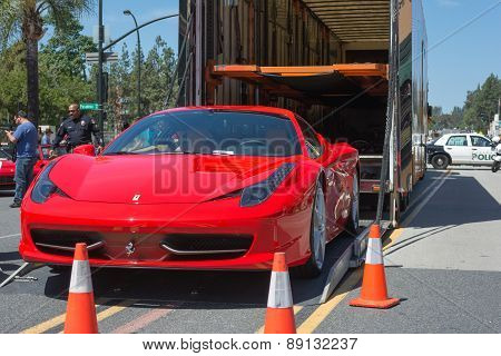 Ferrari 458 Italia Coupe Car On Display