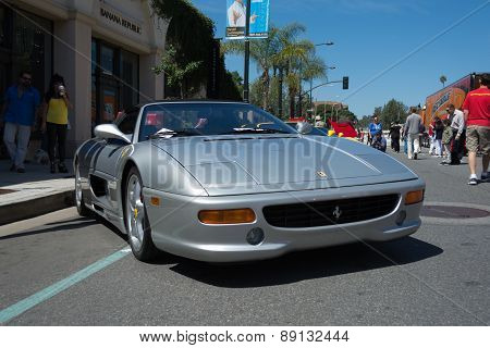 Ferrari F355 Spider Car On Display