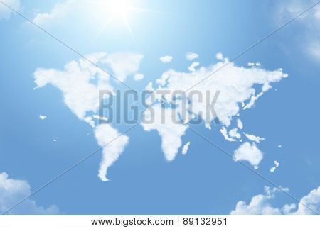 Cloud world map